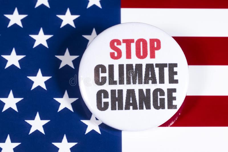 Stop Climate Change In The USA Stock Photo - Image of countries, logo:  165059490