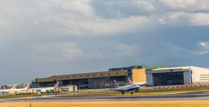 British Airways Taking Off stock image