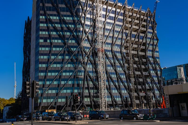London, UK - 21, October 2018: Modern architecture in London stock photography