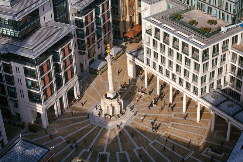 London stock exchange and Paternoster Square near St Pauls Cathedral London UK royalty free stock photo