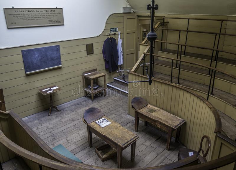 The Old Operating Theatre Museum & Herb Garret. London, UK - September 30 2017: Housed in the attic of the early eighteenth-century church of the old St Thomas` royalty free stock photo