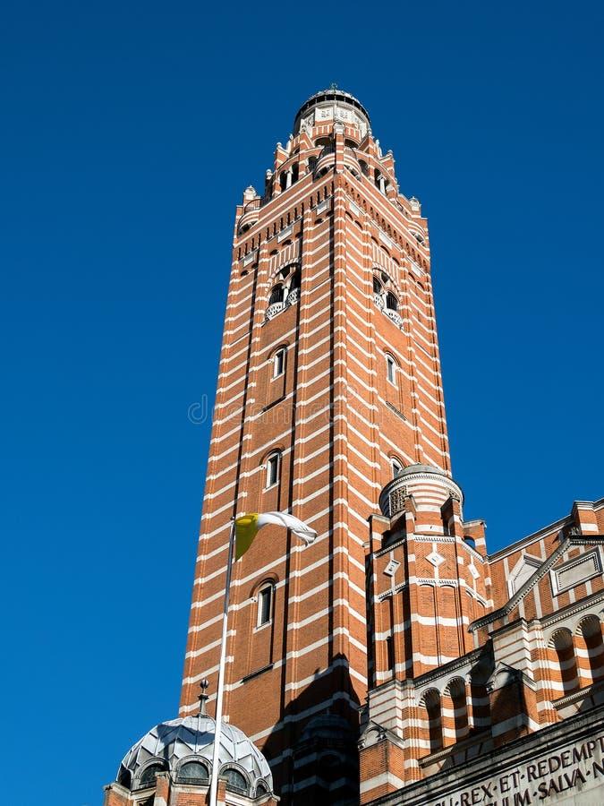 LONDON/UK - SIERPIEŃ 15: Widok wierza przy Westminister Cathedr zdjęcie royalty free