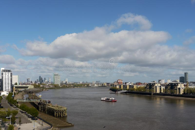 London, UK.   London skyline as seen from Greenwich royalty free stock photos