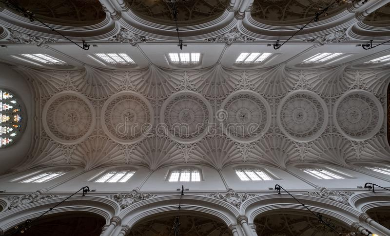 Download St Mary Aldermary Church In Watling Street City Of London With Ornate Plaster Ceiling