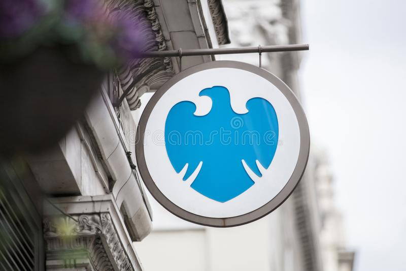London, UK, 17th July 2019, Barclays Bank Sign royalty free stock photos