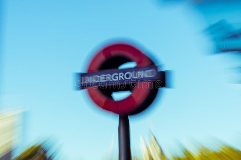 05/11/2017 London, UK, London tunnelbanatecken royaltyfri foto