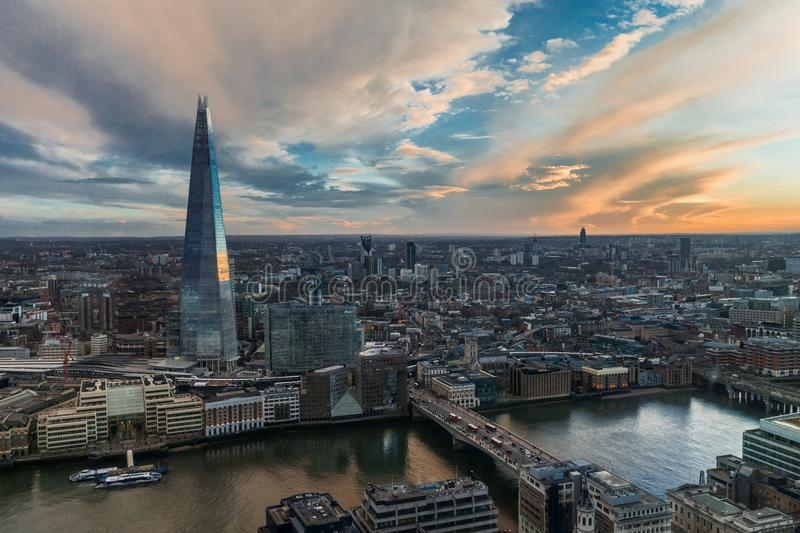 View of the Shard Building in London royalty free stock photo