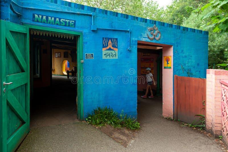 London, UK. 08-03-2019. ZSL London Zoo. Indian themed area. royalty free stock photography