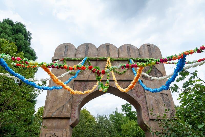 London, UK. 08-03-2019. ZSL London Zoo. Indian themed area. stock photography