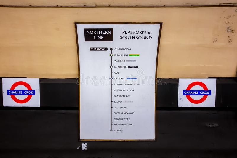 The London Underground royalty free stock images