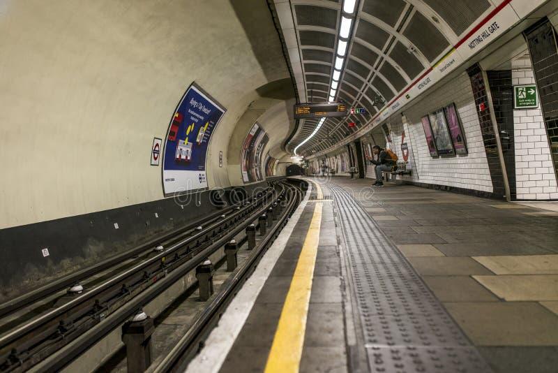 Notting Hill Gate Tube Station royalty free stock photo