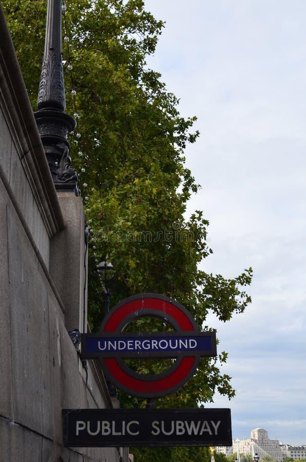 London Underground sign. stock image