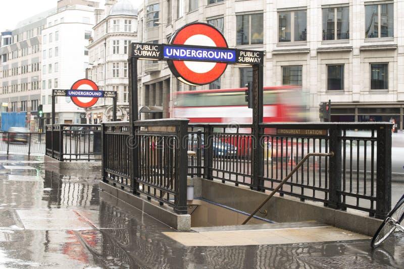 London underground station entrance stock images