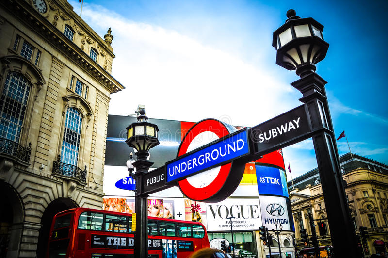 London underground station royalty free stock photos