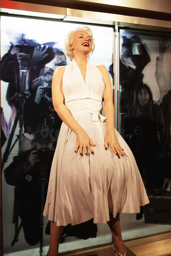 London, United Kingdom - August 24, 2017: Marilyn Monroe in Madame Tussauds. Of London stock image