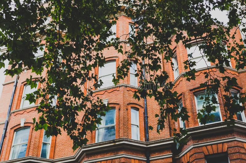 Architecture in London city centre in Mayfair. LONDON, UNITED KINGDOM - August 23rd, 2018: architecture in London city centre in Mayfair stock photos
