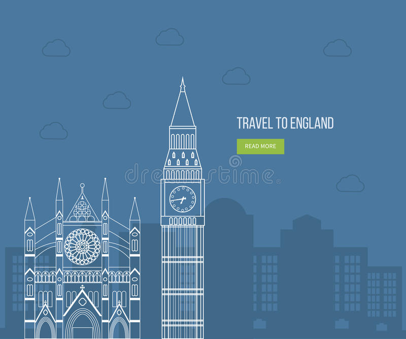 London, United Kingdom flat icons design travel. Concept. London travel. Historical and modern building. Vector illustration vector illustration