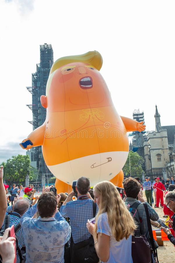 Donald Trump Visits the UK to Demonstrations royalty free stock image
