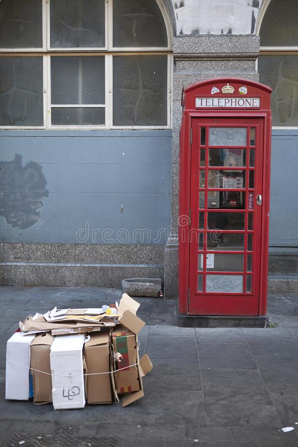 The red telephone box royalty free stock images