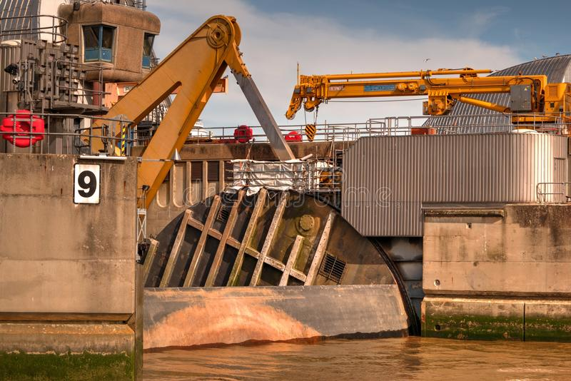 Thames Barrier in Woolwich, London, United Kingdom stock photography