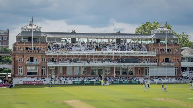 Victorian-era Pavilion at Lords Cricket Ground royalty free stock photo