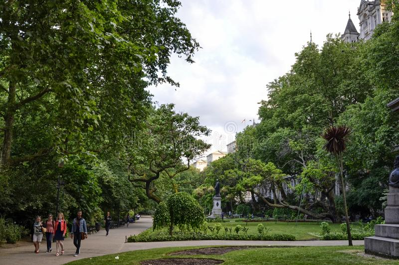 London, United Kingdom, June 2018. The Whitehall Gardens royalty free stock image