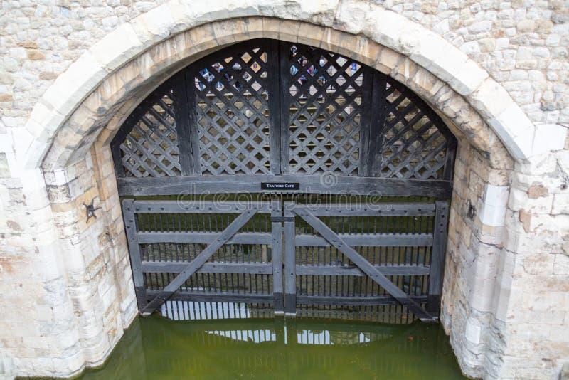 Traitor`s Gate, London stock image