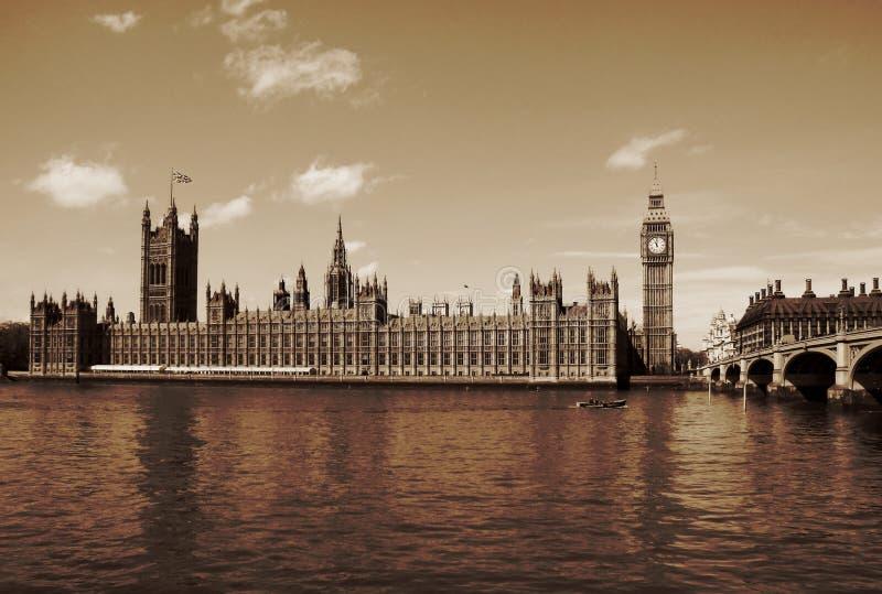London, United Kingdom - Palace of Westminster Houses of Parlia stock photo