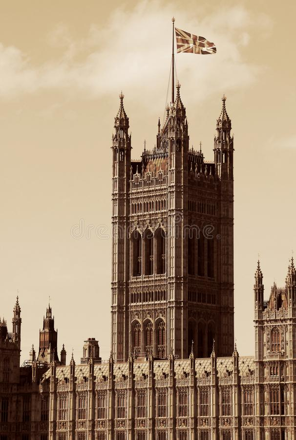 London, United Kingdom - Palace of Westminster Houses of Parlia stock photography