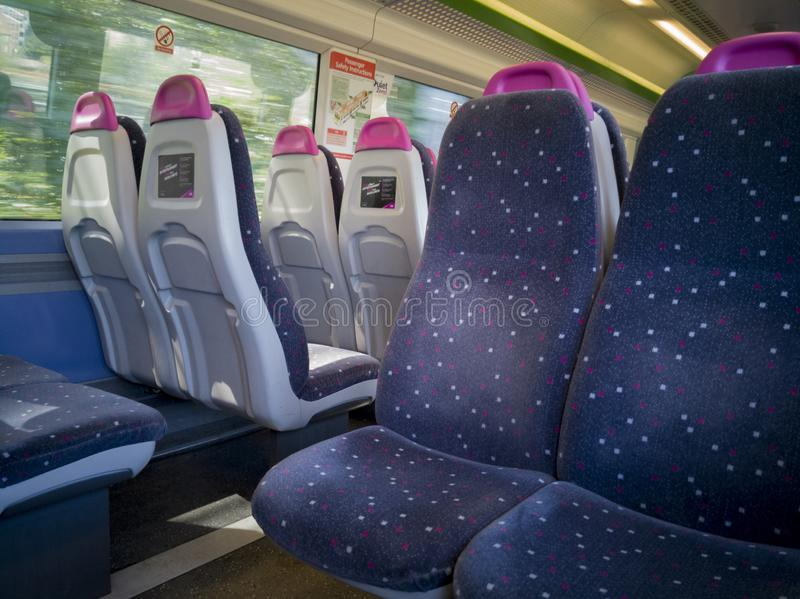 Iinterior view of a C2C train royalty free stock photography