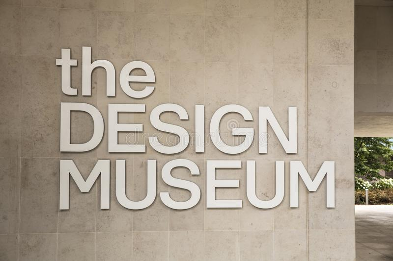 London, United Kingdom, 18th July 2019, entrance to the Design Museum in Kensington royalty free stock images