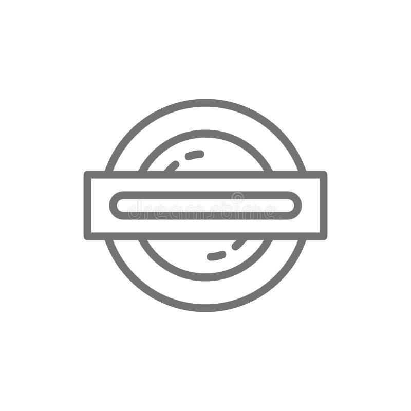 London-Untergrund, Metro, Zuglinie Ikone lizenzfreie abbildung