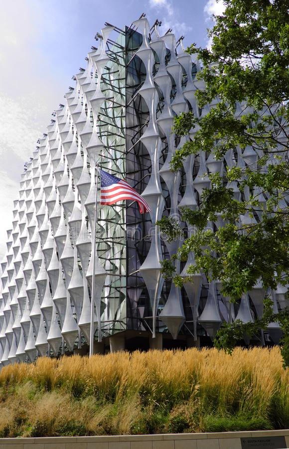 London US embassy. London, Wandsworth - Nine Elms: from January 2018 the US embassy in London is open to the public. It moved from the former Grosvenor Square royalty free stock images