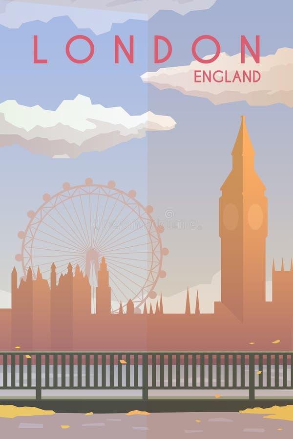 London. Vector poster. royalty free illustration