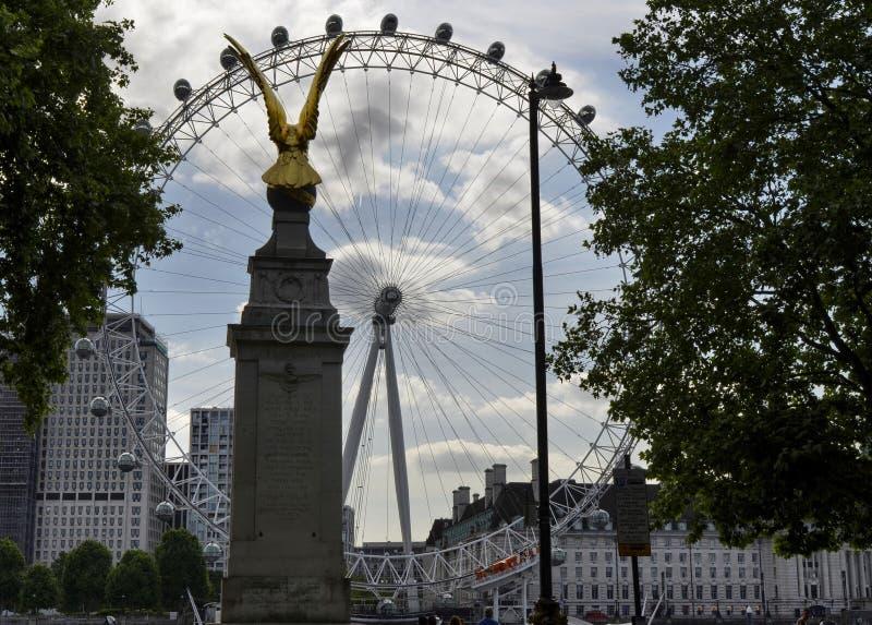 London, Vereinigtes Königreich das London-Auge lizenzfreie stockbilder