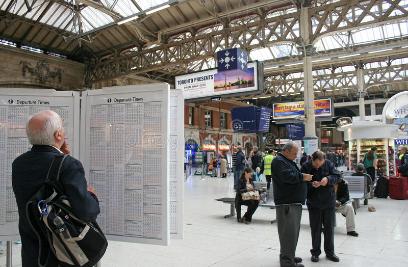 London Victoria Station royalty free stock image