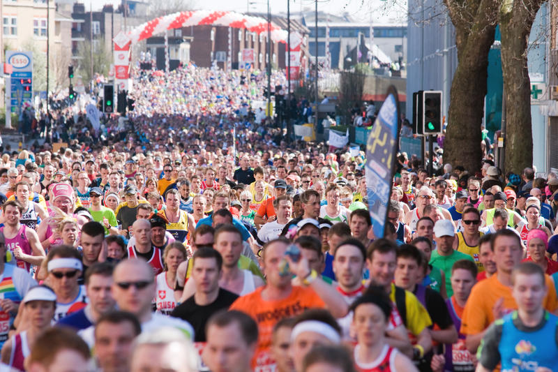 London Virgin marathon 2013 stock images