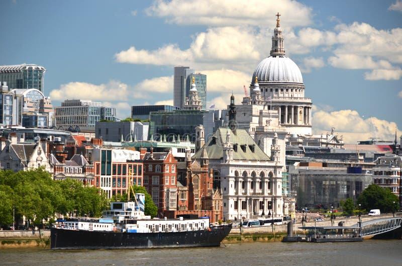 London von Waterloo-Brücke stockfoto