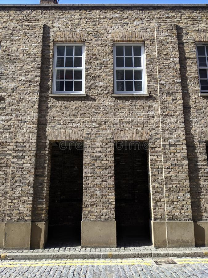London warehouse by the dock royalty free stock images