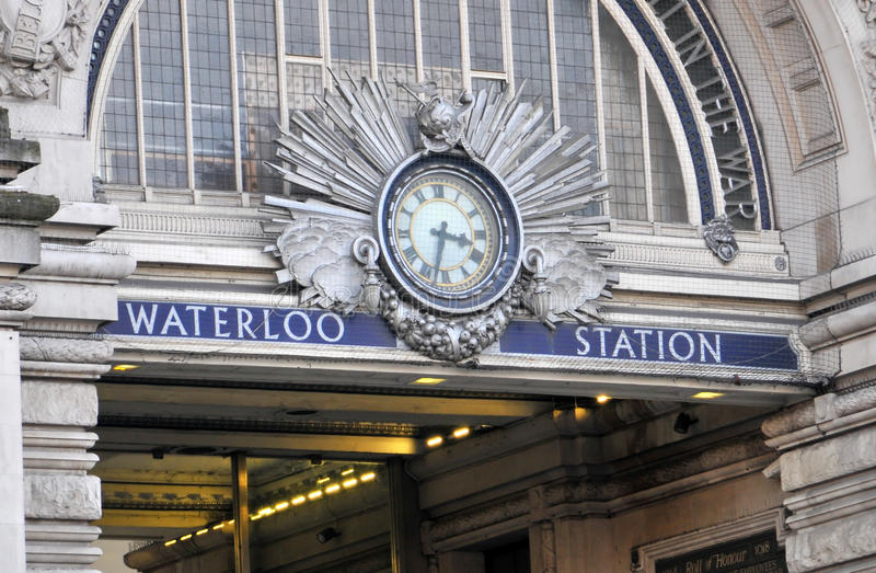 London Waterloo station royalty free stock photography