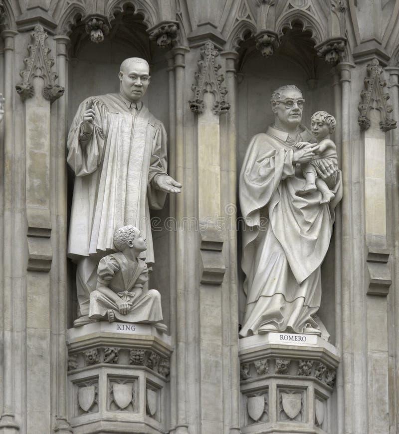 London - westminster abbey facade stock photos