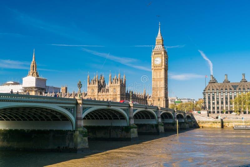 London westminster bro royaltyfria foton