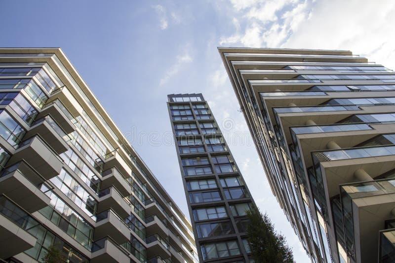 London-Wohnungen und -Bürogebäuden oben betrachten London, England, Großbritannien, am 1. September 2018 stockfotografie