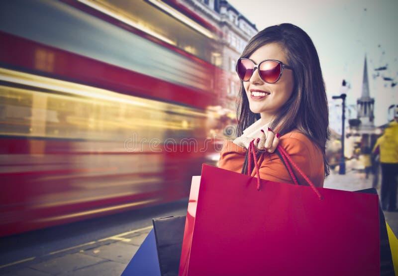 london zakupy zdjęcie stock