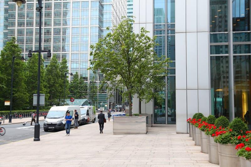 London - zitronengelber Kai lizenzfreies stockfoto