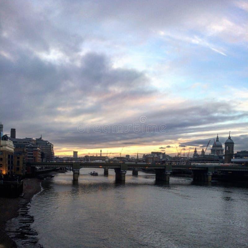 london zmierzch zdjęcia royalty free
