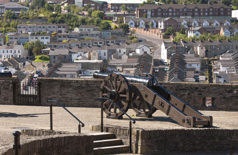 Londonderry Northern Ireland. On a bright sunny day stock photos