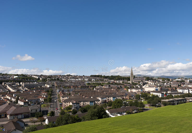 Londonderry Northern Ireland. On a bright sunny day royalty free stock photos