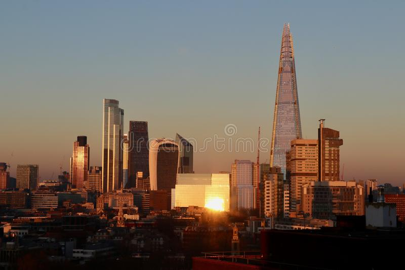 Londoner Sonnenuntergang lizenzfreies stockbild