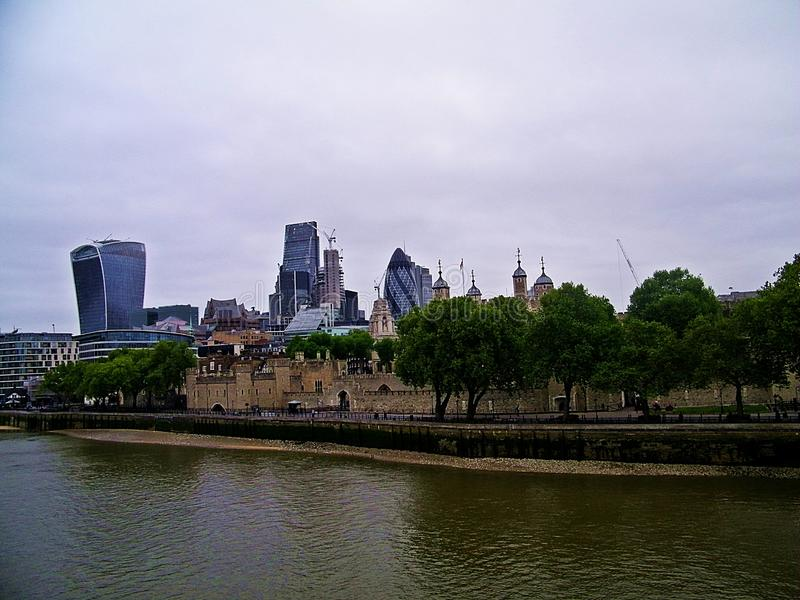 Londons skyskrapor royaltyfri foto